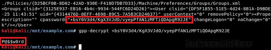 Decrypting GPP CPassword found in SYSVOL